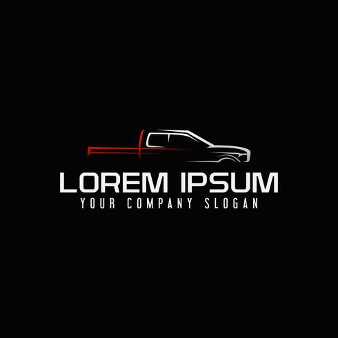 mini van auto logo ontwerpsjabloon concept vector