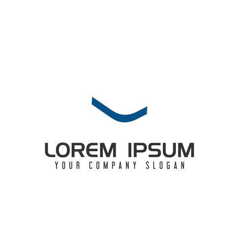 Plantilla de concepto de diseño de logotipo de letra L espacio negativo vector