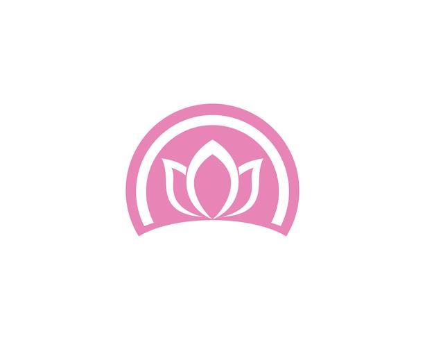 Signo de flor de loto para bienestar, spa y yoga. Vector