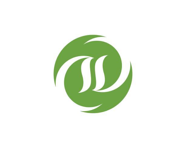 hoja verde ecología naturaleza elemento vector icono