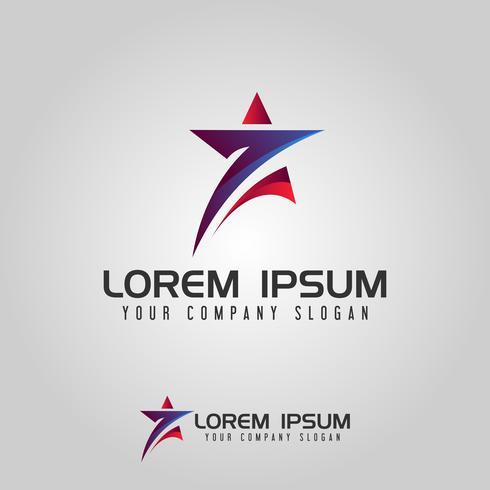 Stern Logo sieben Design-Konzept-Vorlage