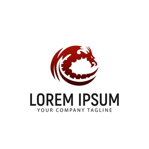 dragon logo design concept template vector