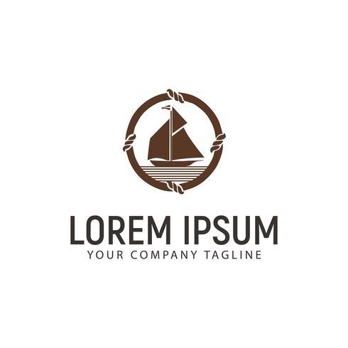 modello di concetto di progettazione logo nave