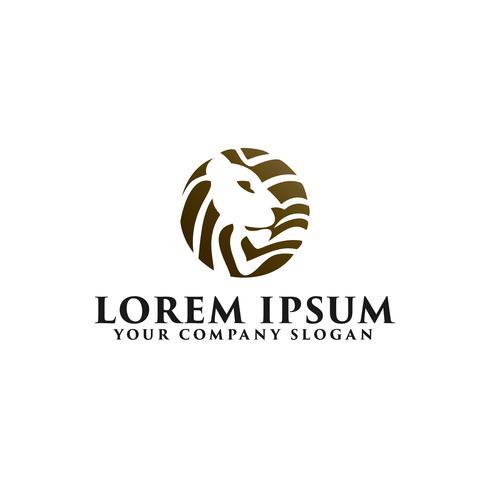 Plantilla de concepto de diseño de León logotipo emblema