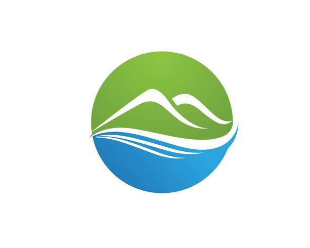 Vecteur de modèle de logo de montagne