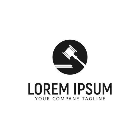 Hammer Gesetz Logo Design-Konzept-Vorlage