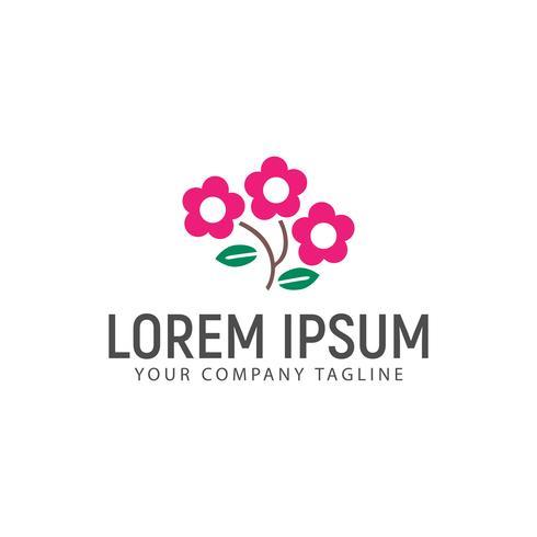 modelo de conceito de design de logotipo de flor de cosmos