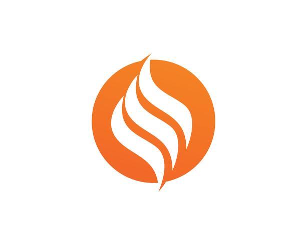 Ícone de vetor de logotipo de fogo chama Óleo, gás e conceito de logotipo de energia