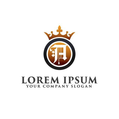 Luxe Letter A met kroon Logo ontwerpsjabloon concept
