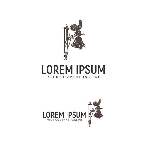 modello di concetto di progettazione logo polli e campane