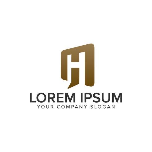 Lettre H porte ouverte modèle de concept de design logo. entièrement éditable