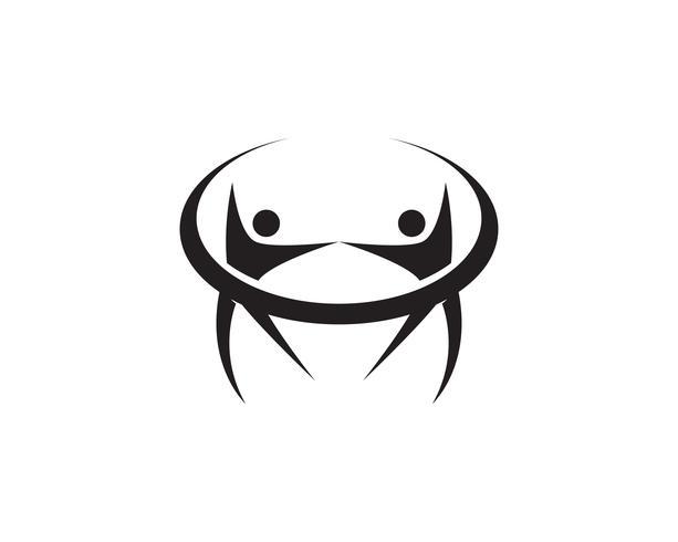 Star logo succès personnes modèle vector icon design illustration