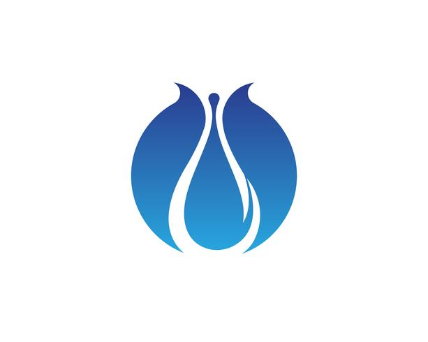 Goutte d'eau Logo Template vector illustration design - vecteur