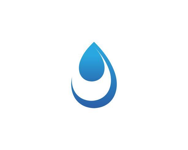 diseño del ejemplo del vector de la plantilla del logotipo de la gota del agua