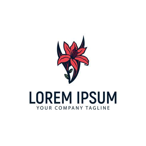 Plantilla de concepto de diseño de logo de carmellia flor