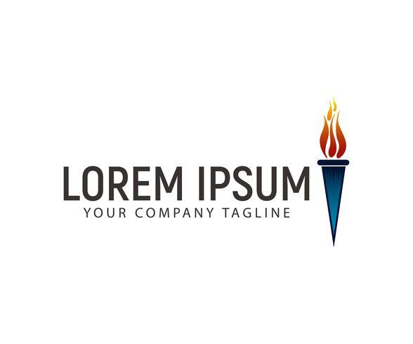 modèle de concept de design de torche logo vecteur