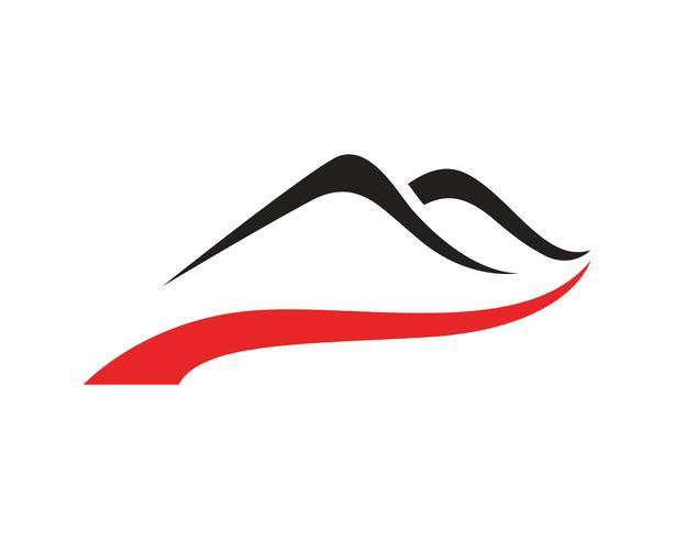 Logo de montaña negocio plantilla vector