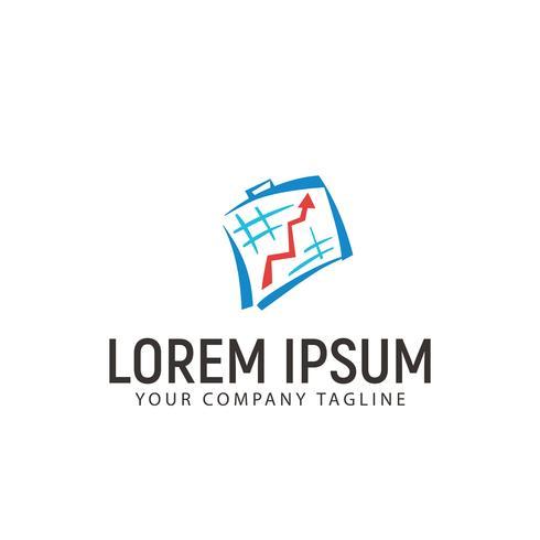 modelo de conceito de design de logotipo de negócios de gráfico de estatísticas