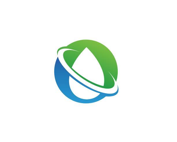 gota de água Logo Template vector illustration design