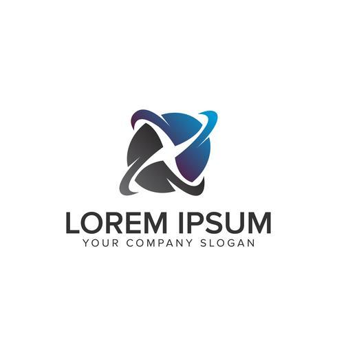turbin rotation energi logotyp design koncept mall. helt redigerbar vektor