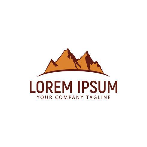 mountain logo design concept template