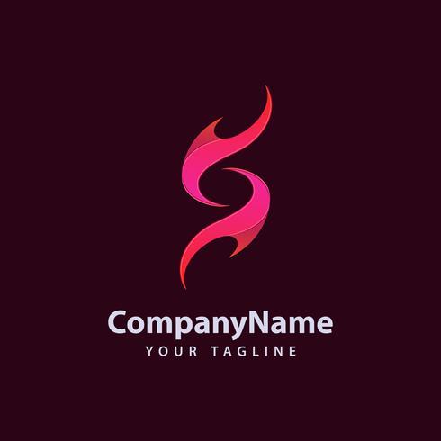 Llama S plantilla de diseño de logotipo. vector