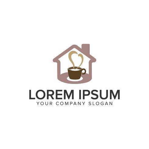 modèle de concept de conception de logo coffe house