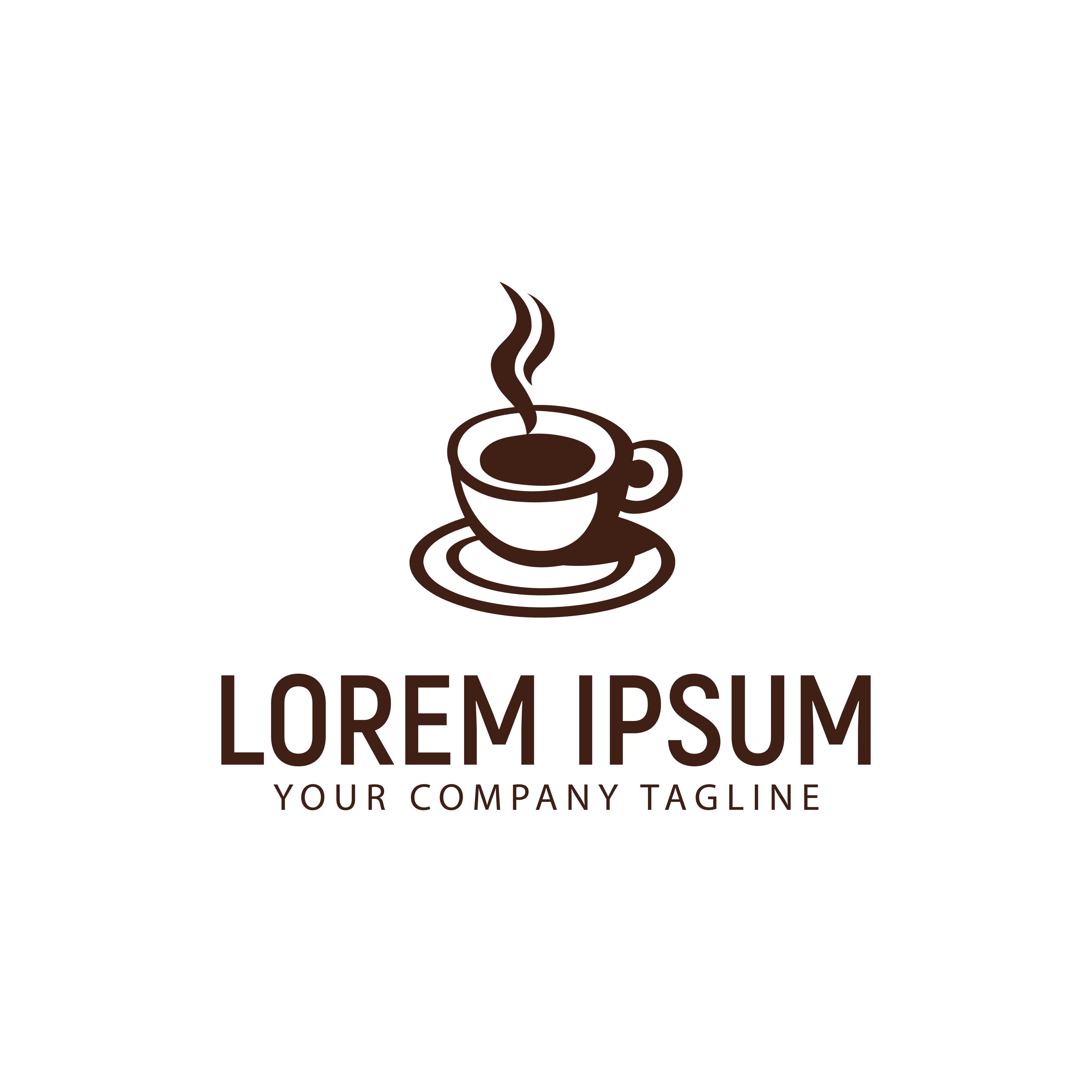 Coffee Cup Logo Design Concept Template Download Free Vectors Clipart Graphics Vector Art