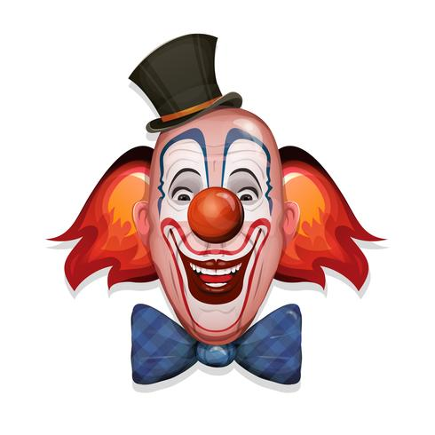 Zirkus Clown Gesicht