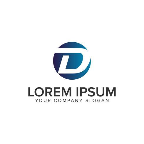 Letter D cirkel logo ontwerpsjabloon concept. volledig bewerkbare vec