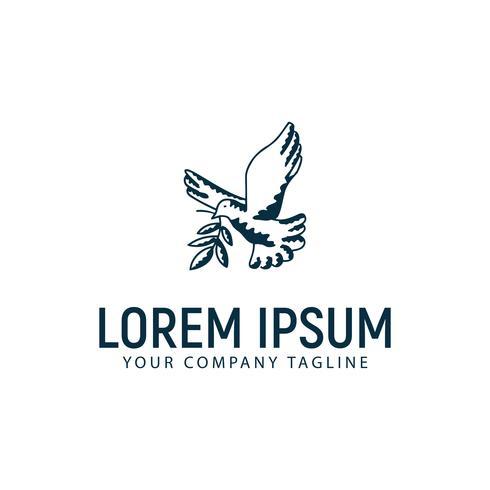 logo de colombe. modèle de conception de la paix