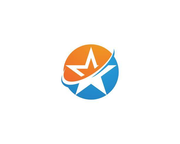 Diseño del ejemplo del icono del vector de la plantilla del logotipo de la estrella