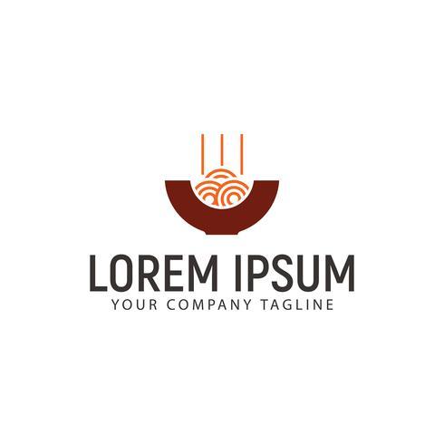 modello di concetto di design logo di noodles vettore