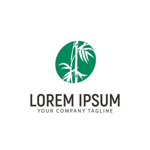 modelo de conceito de design de logotipo de bambu