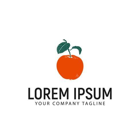modelo de conceito de design de logotipo laranja fruta