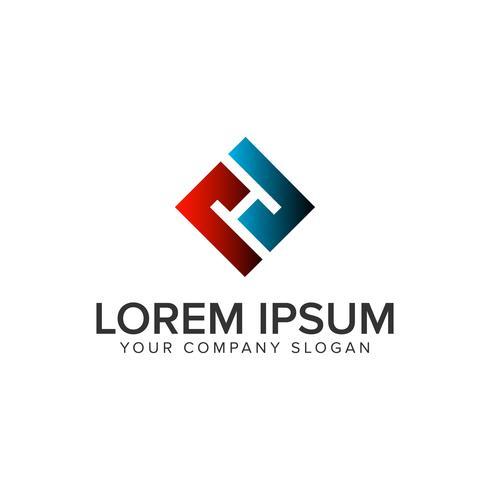 Plantilla de concepto de diseño de logotipo único creativo letra H. totalmente edi