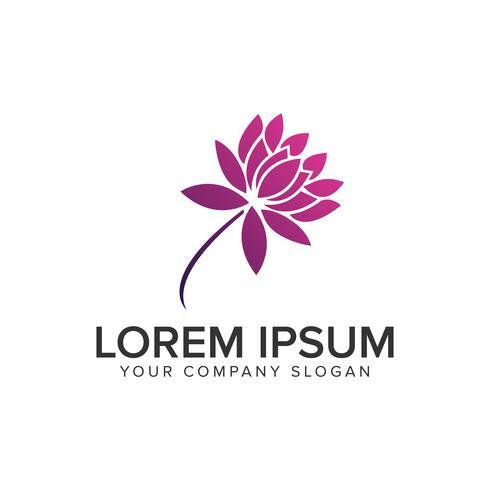 lilly flower logo design concept template. fully editable vector