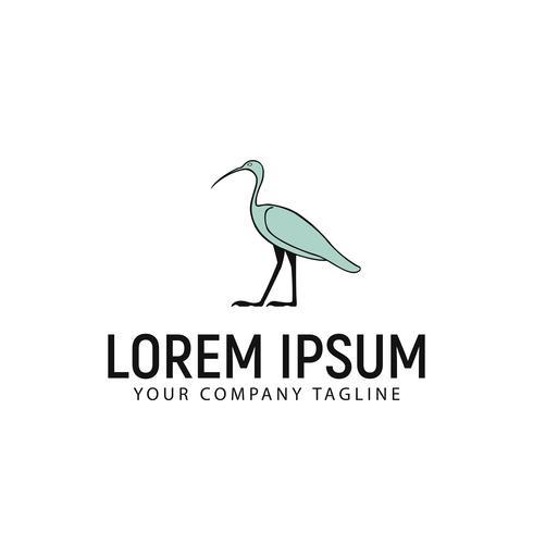 modelo de conceito de design de logotipo de carrinho de ganso