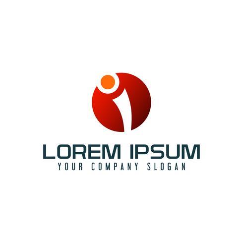 Letter I logo design concept template vector
