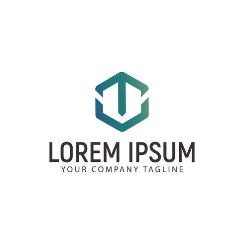 letter T logo. technology modern design concept template