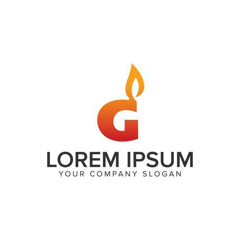 Letter G med brand ignition logotyp design koncept mall. fullt