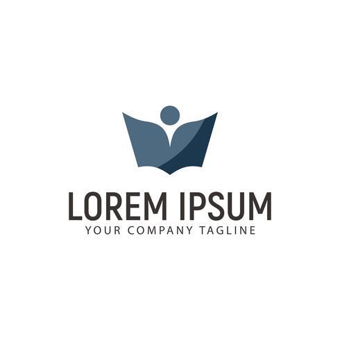 modèle de concept de l'éducation livre personnes logo design