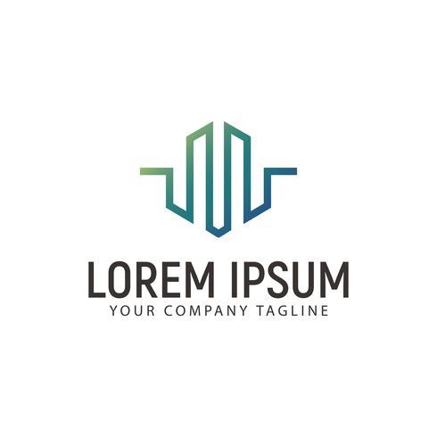 Logo de la lettre M. modèle de concept de design moderne