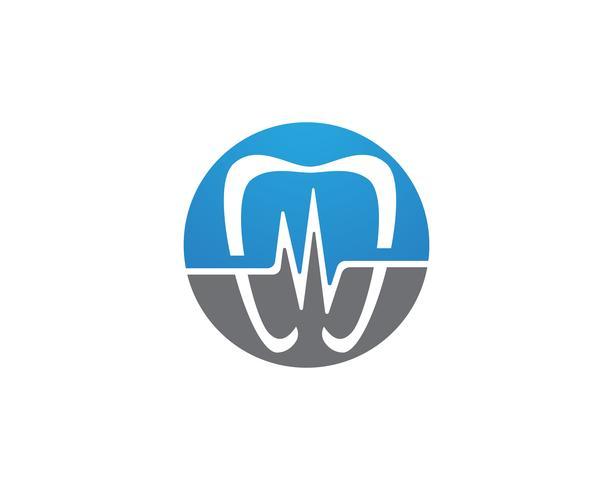 Icone del modello logo e simboli di cure odontoiatriche