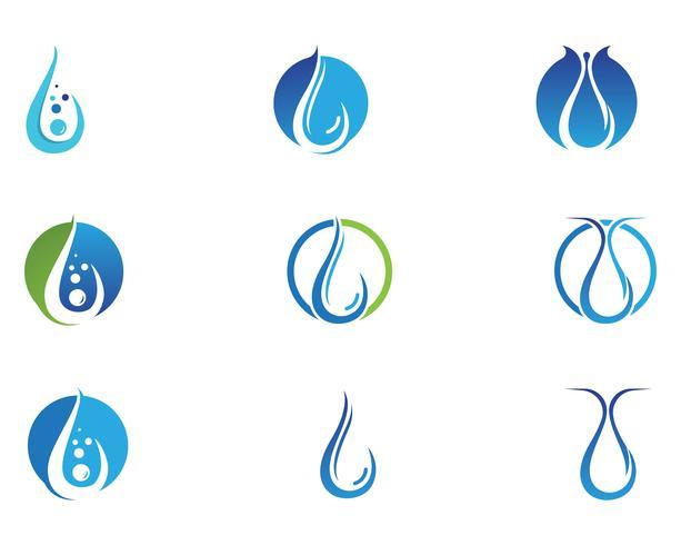 Diseño del ejemplo del vector de la plantilla del logotipo de la gota del agua - vector
