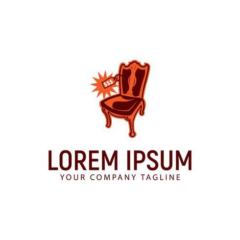Antike Stuhl Preis Logo-Design-Konzept-Vorlage