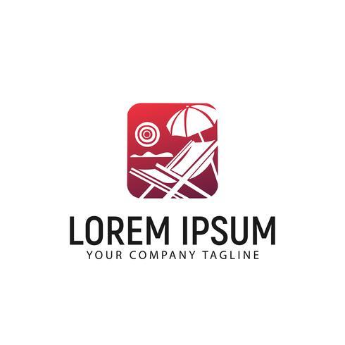 modello di concetto di design illustrazione logo estate vettore