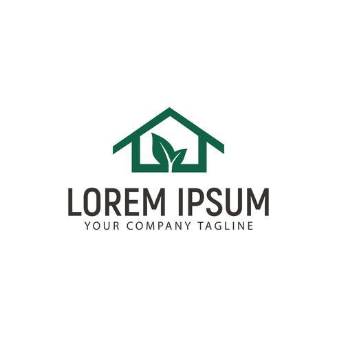 Plantilla de concepto de diseño de logotipo de casa verde vector