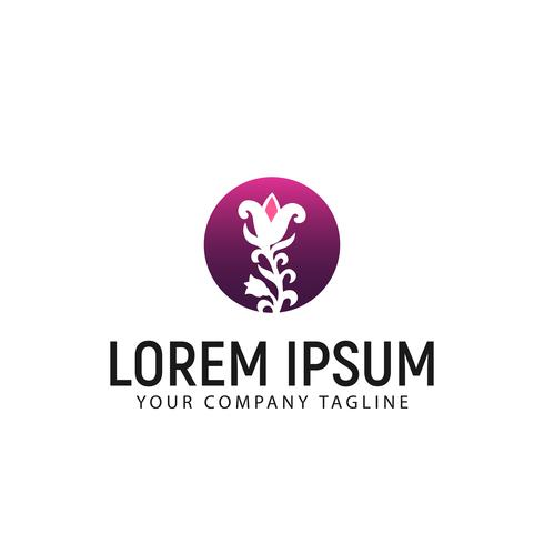 Plantilla de concepto de diseño de logotipo de flor