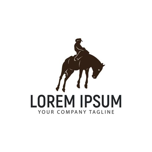 horseback riding logo design concept template